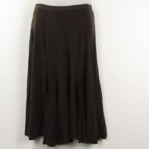 Free People Brown Pull-On Skirt XS